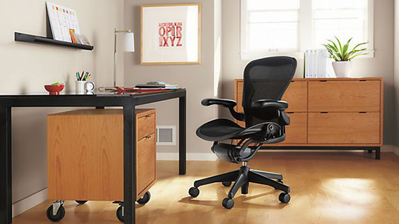 Herman Miller Aeron Chair Open Box Size B Fully Loaded Hardwood