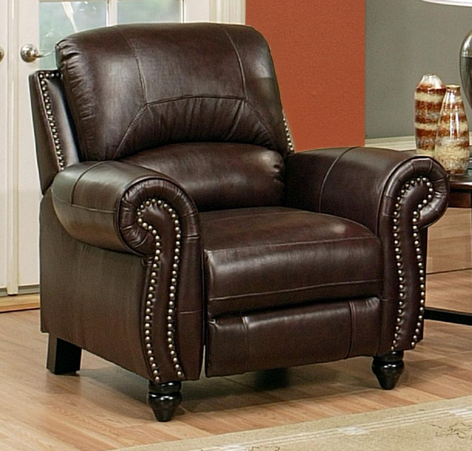 Madison leather recliner by abbyson living ch 8857 brg 1 for Abbyson living sedona leather chaise recliner