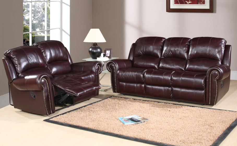 broadway leather 2 pc sofa loveseat set by abbyson living ch 8811