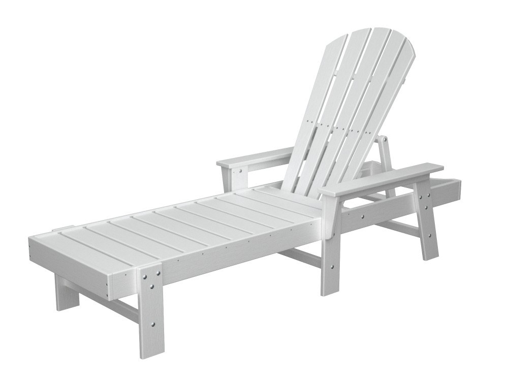 south beach adirondack outdoor chaise lounge by poly wood