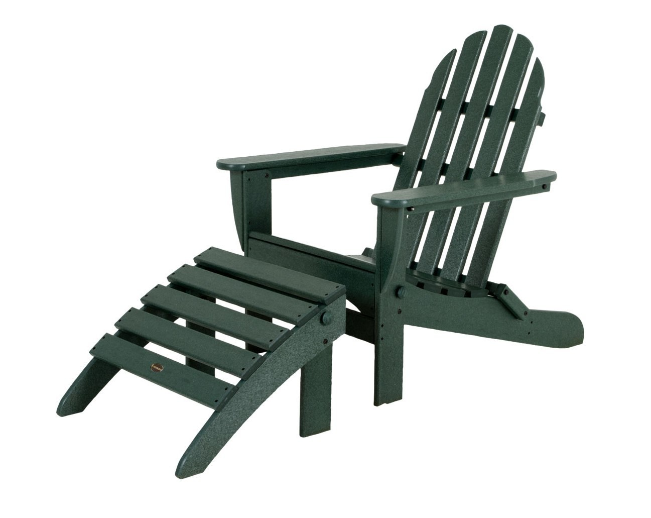 Adirondack 2 Pc Outdoor Lounge Chair Set by POLYWOOD PWS136 1 GR