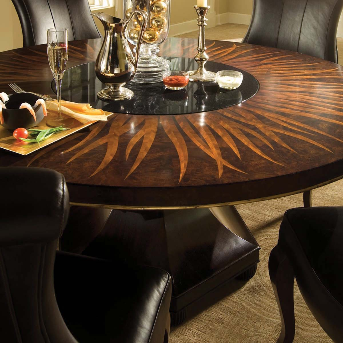 furniture dining room furniture table bob mackie home round
