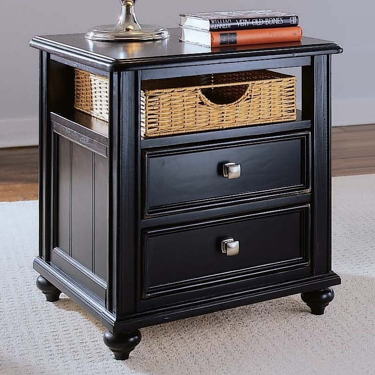 Camden Side Table With Black Finish By American Drew