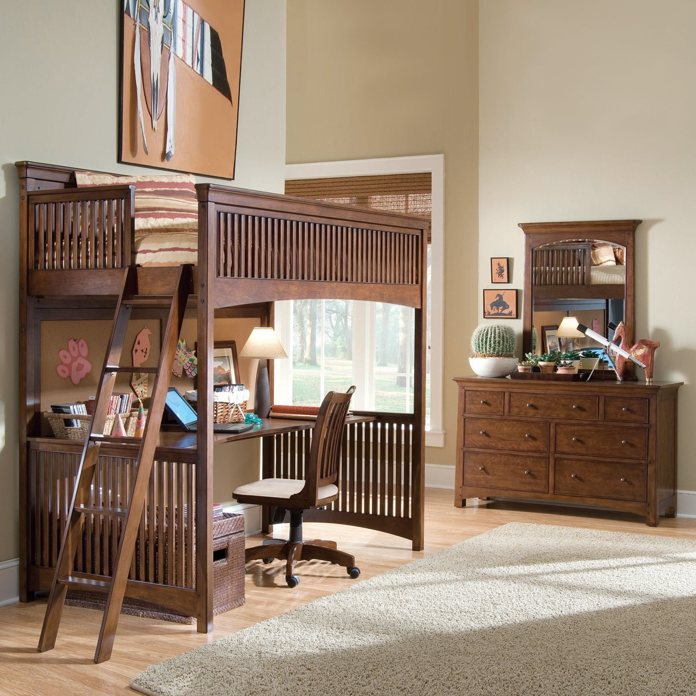 lea elite crossover loft bedroom set by lea industries