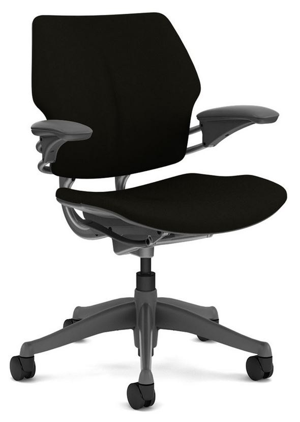 office chairs chair furniture hand humanscale blue second freedom shop ergonomic back used in