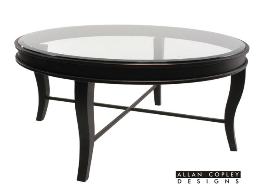 Dania Round Glass Top Cocktail Table By Allan Copley Designs 2304 01r G