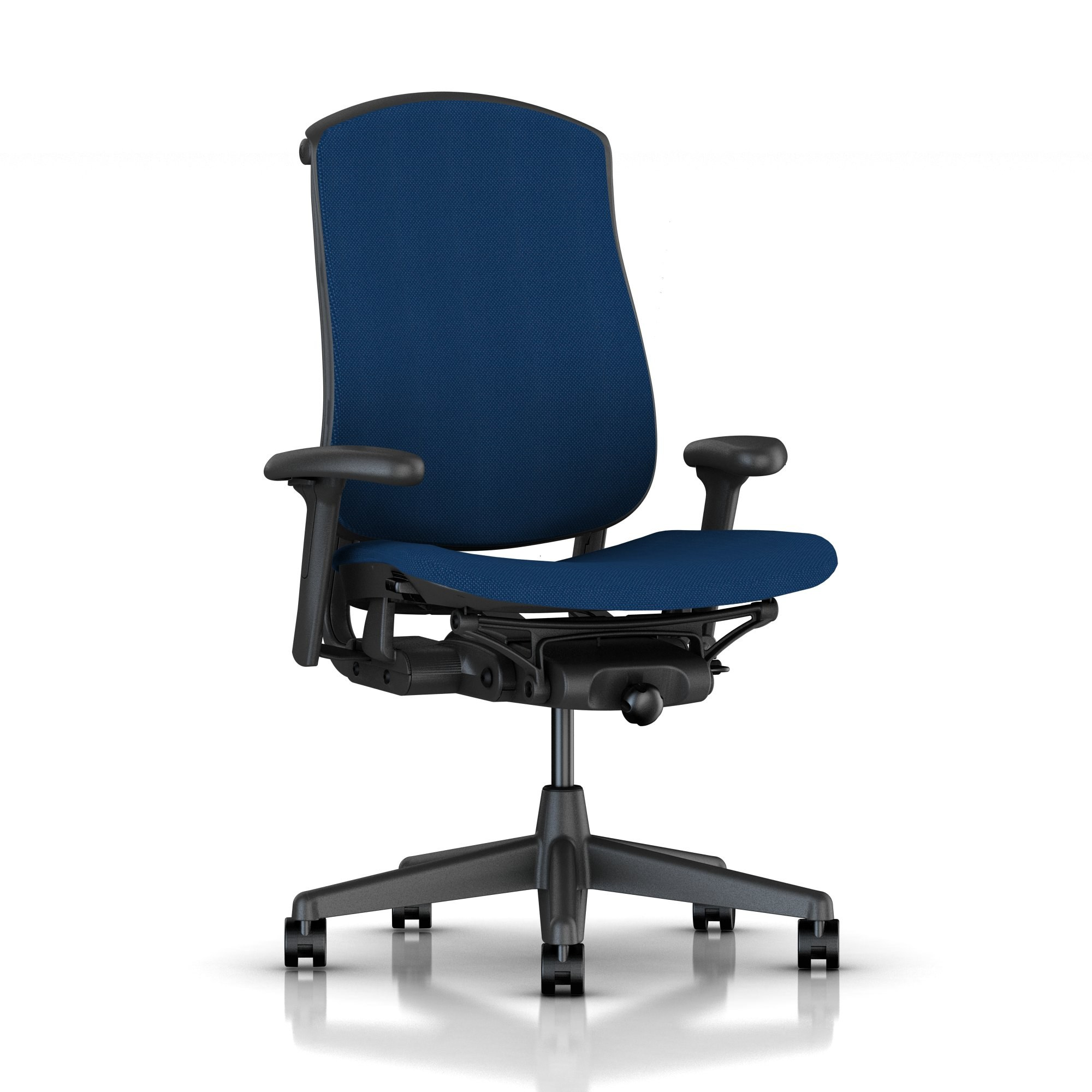 Basic Celle Chair In Indigo Crossing Fabric By Herman Miller HER