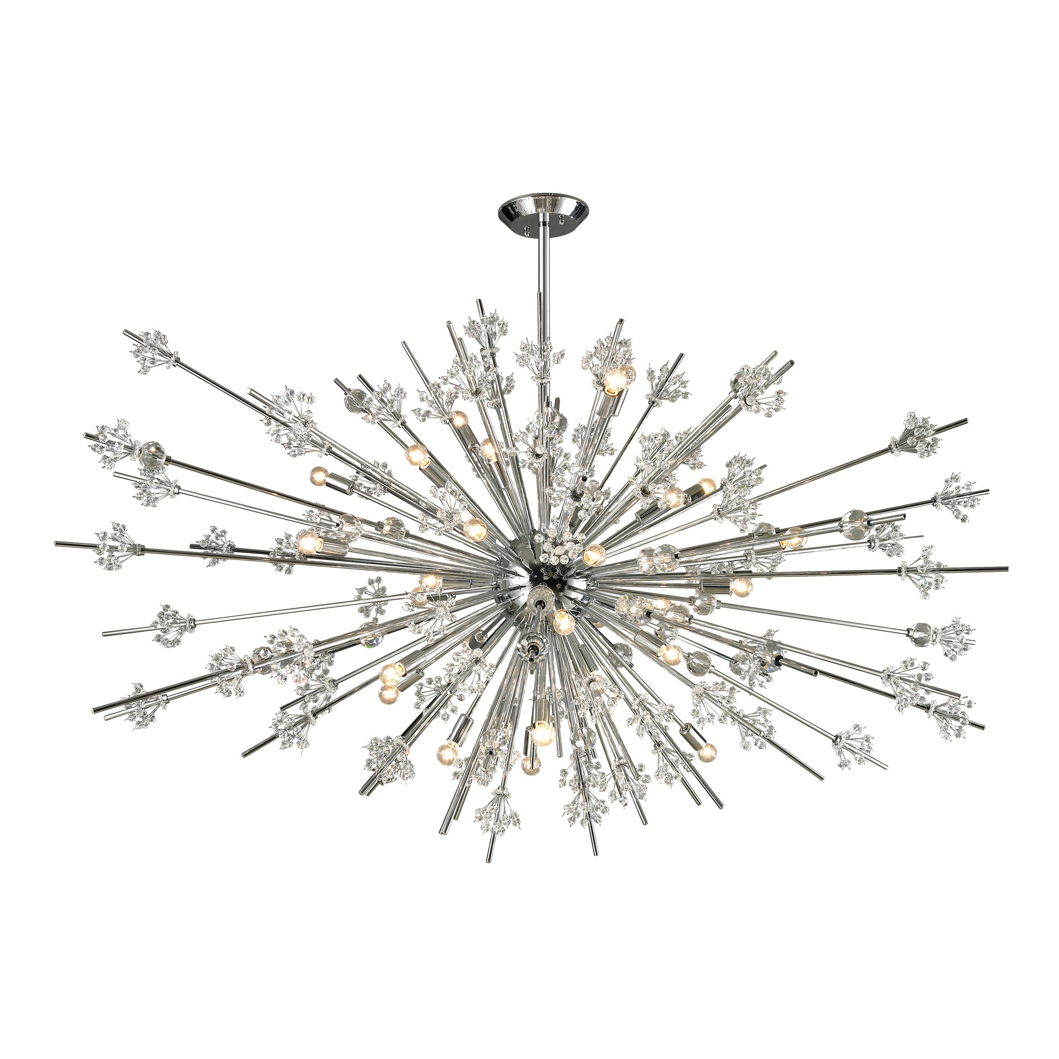 Starburst Collection 31 Light Chandelier In Polished