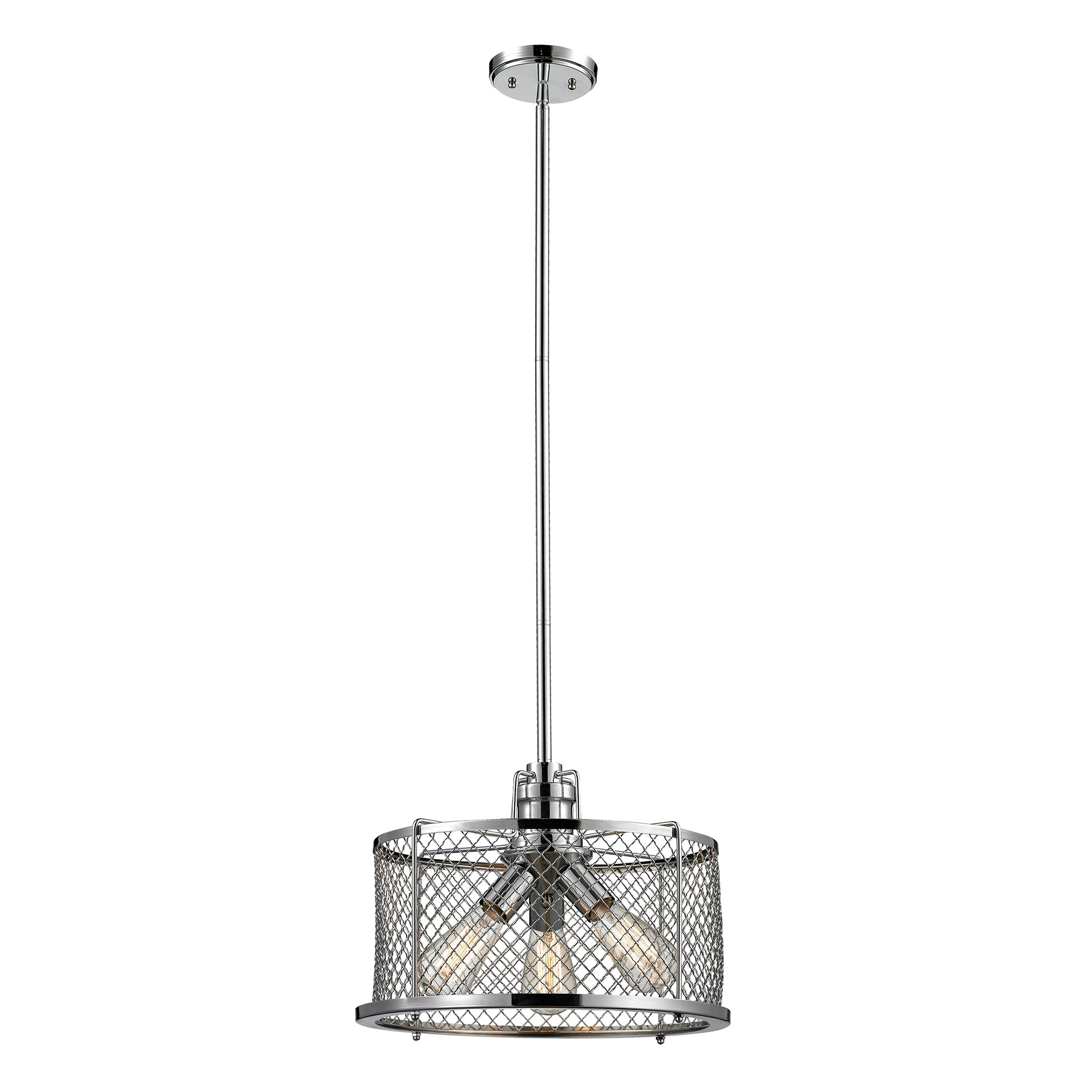Brisbane Collection 3 Light Pendant In Polished Chrome By