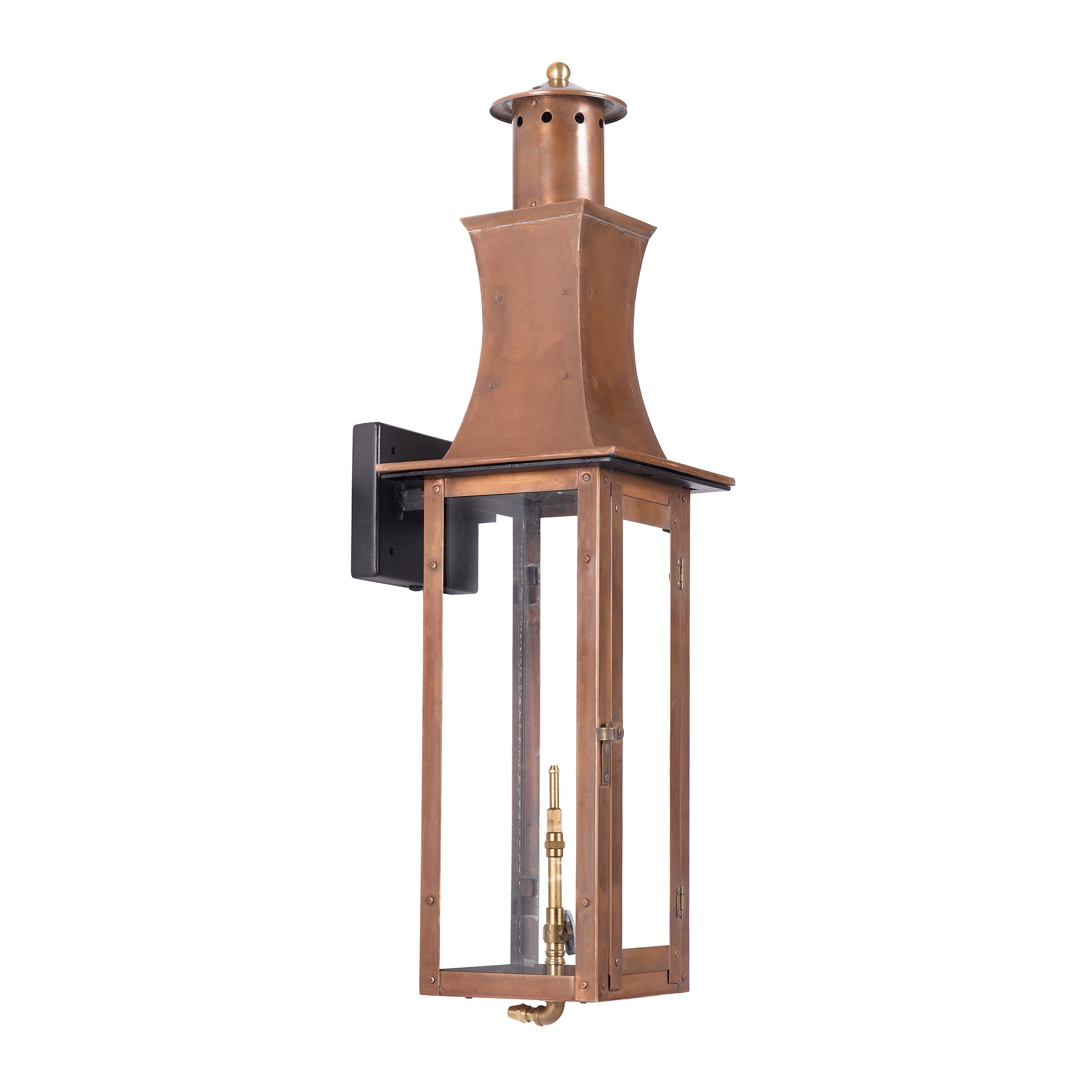 Outdoor Gas Wall Lantern Maryville Collection In Solid Brass In An Aged Copper Finish. by Elk ...