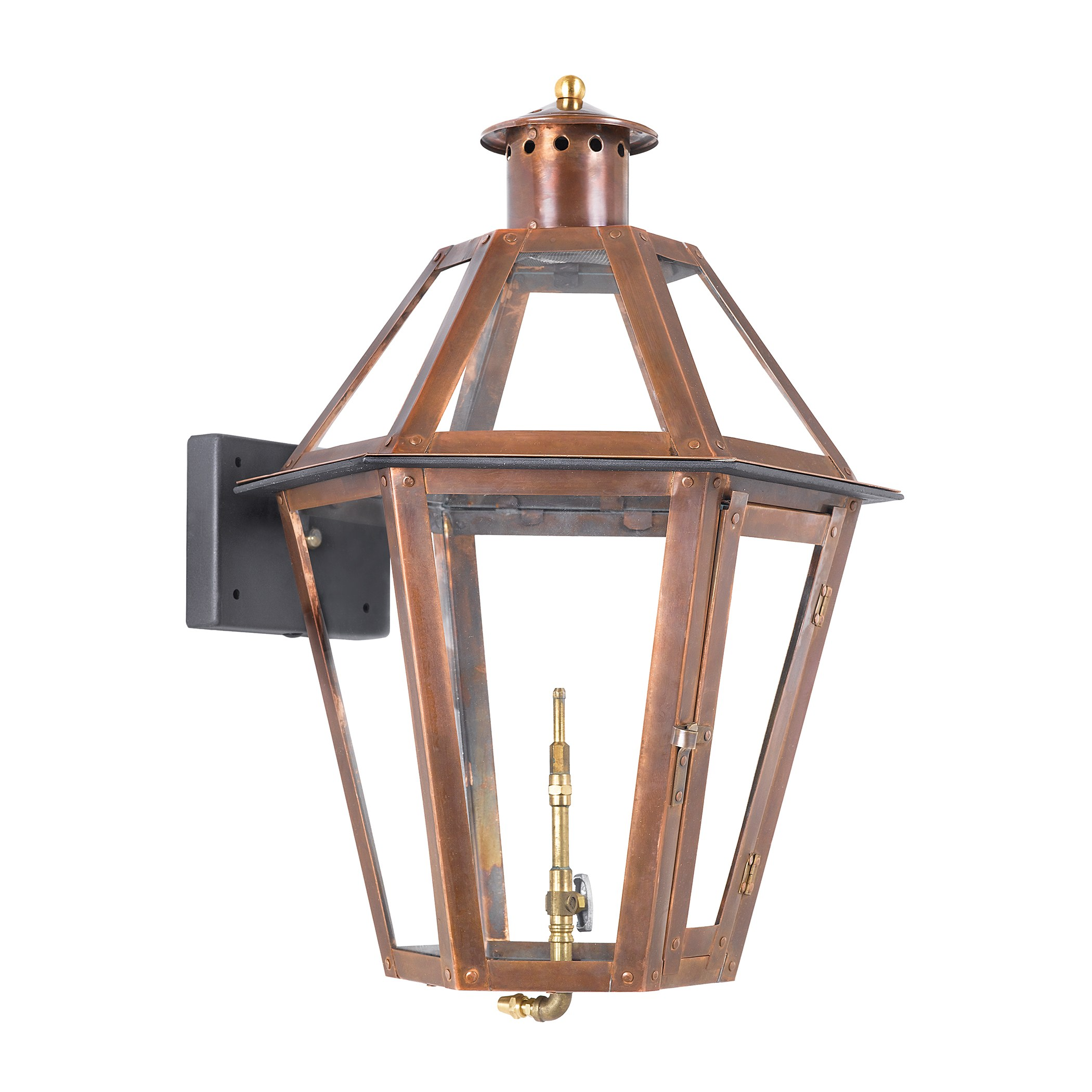 collection in solid brass in an aged copper finish by elk lighting