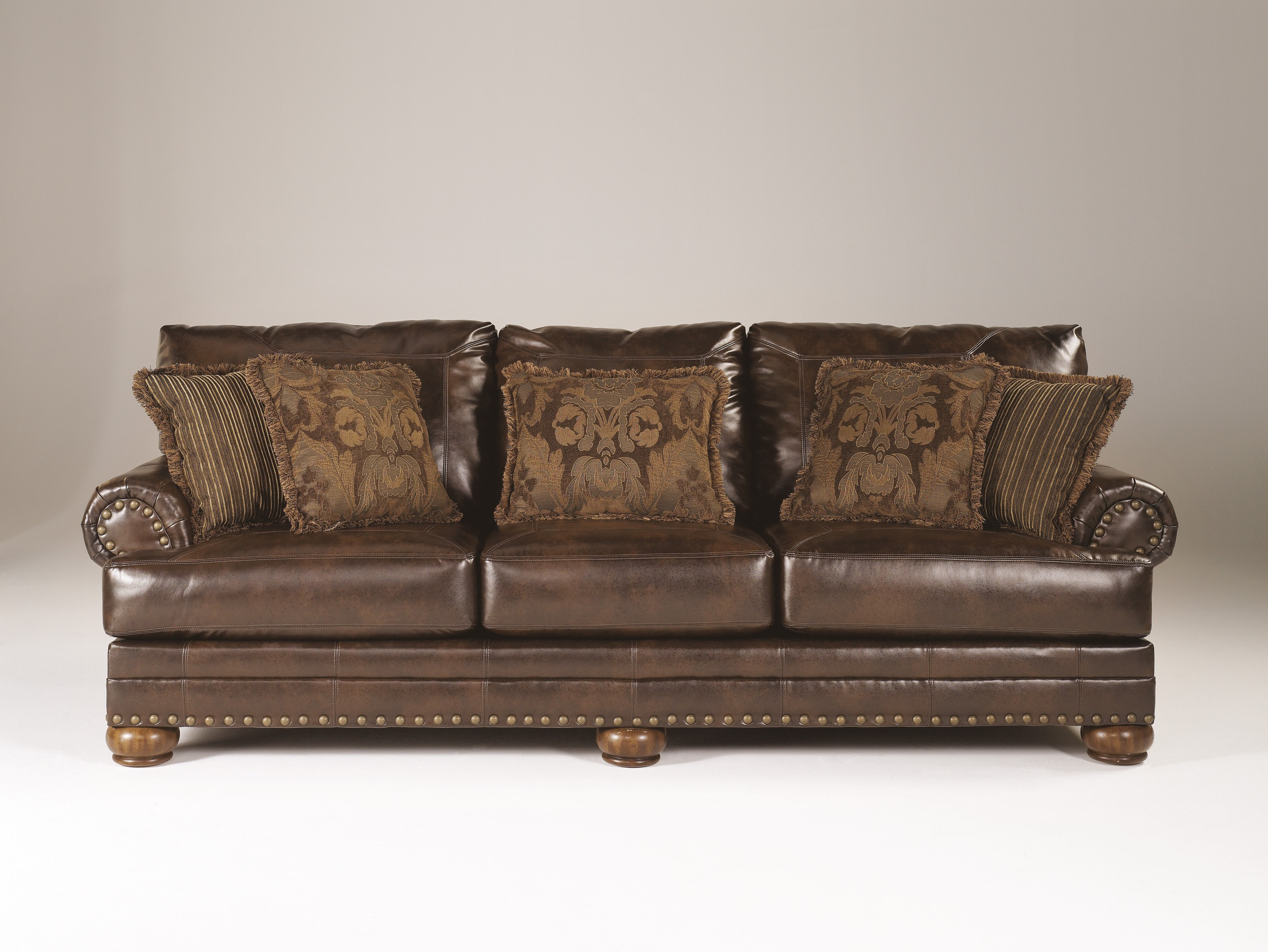 Durablend Antique Brown Sofa By Ashley Furniture 9920038
