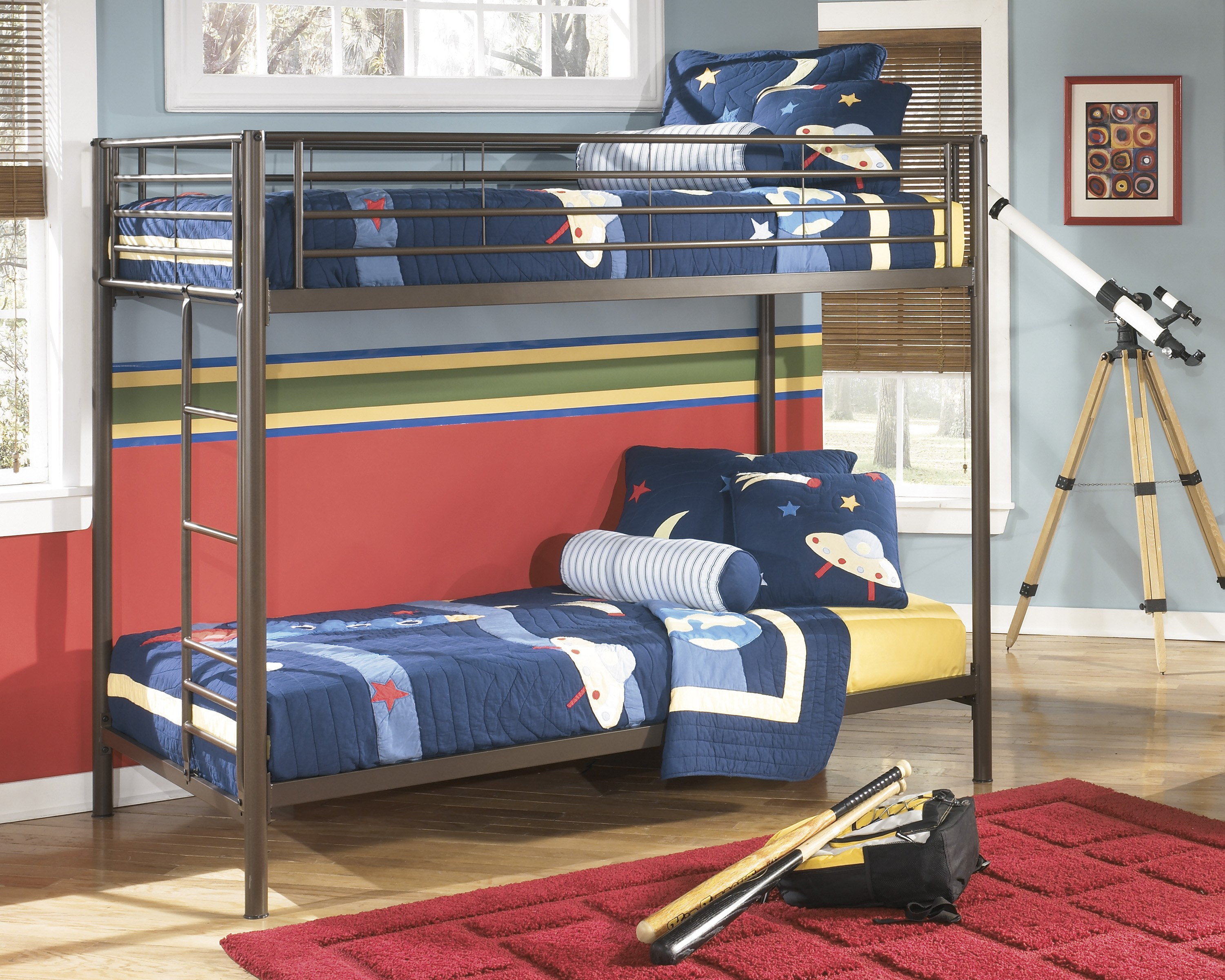 new style 09121 41464 Signature Design by Ashley Benjamin Twin/Twin Metal Bunk Bed
