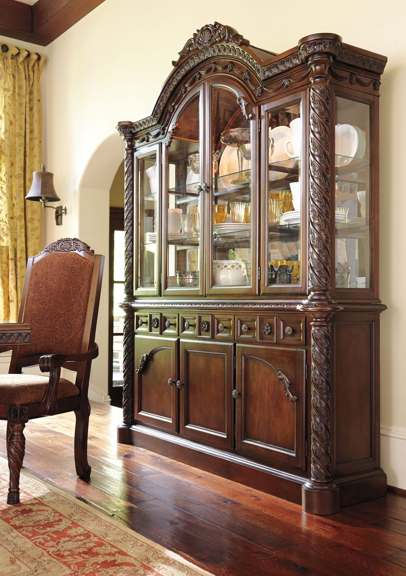 Gentil Millennium North Shore Dining Room China Cabinet By Ashley Furniture