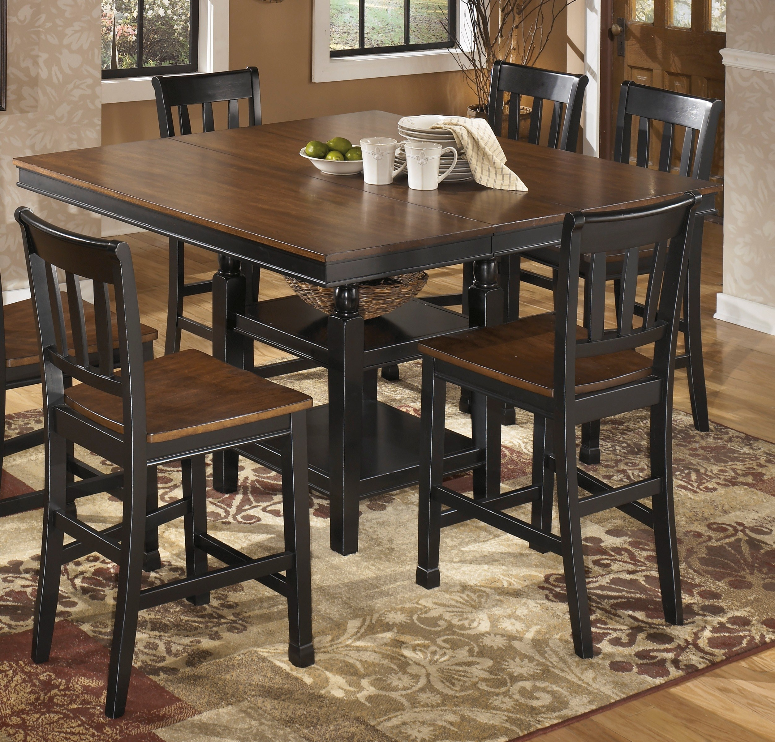 Attractive Signature Design By Ashley Owingsville Square Counter Height Table   D580 32