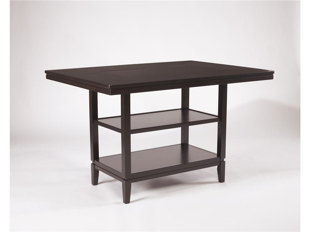 trishelle rectangular dining room counter table by ashley