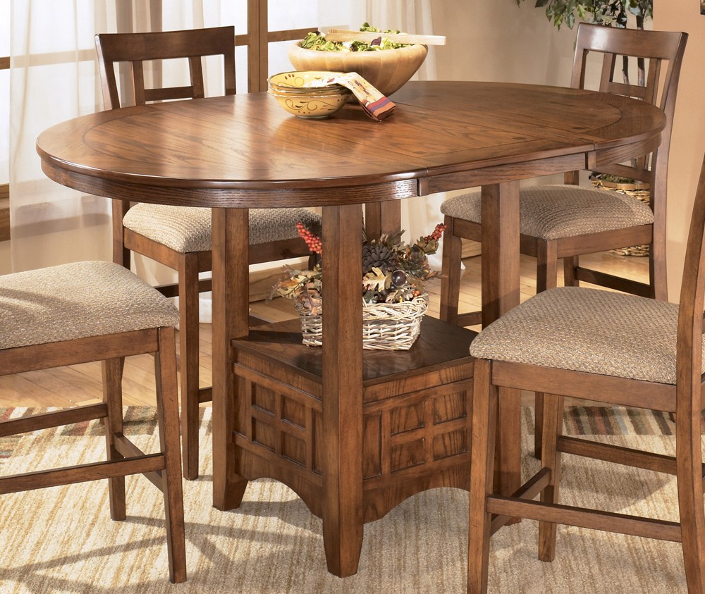 cross island oval counter height table by ashley furniture d319 42