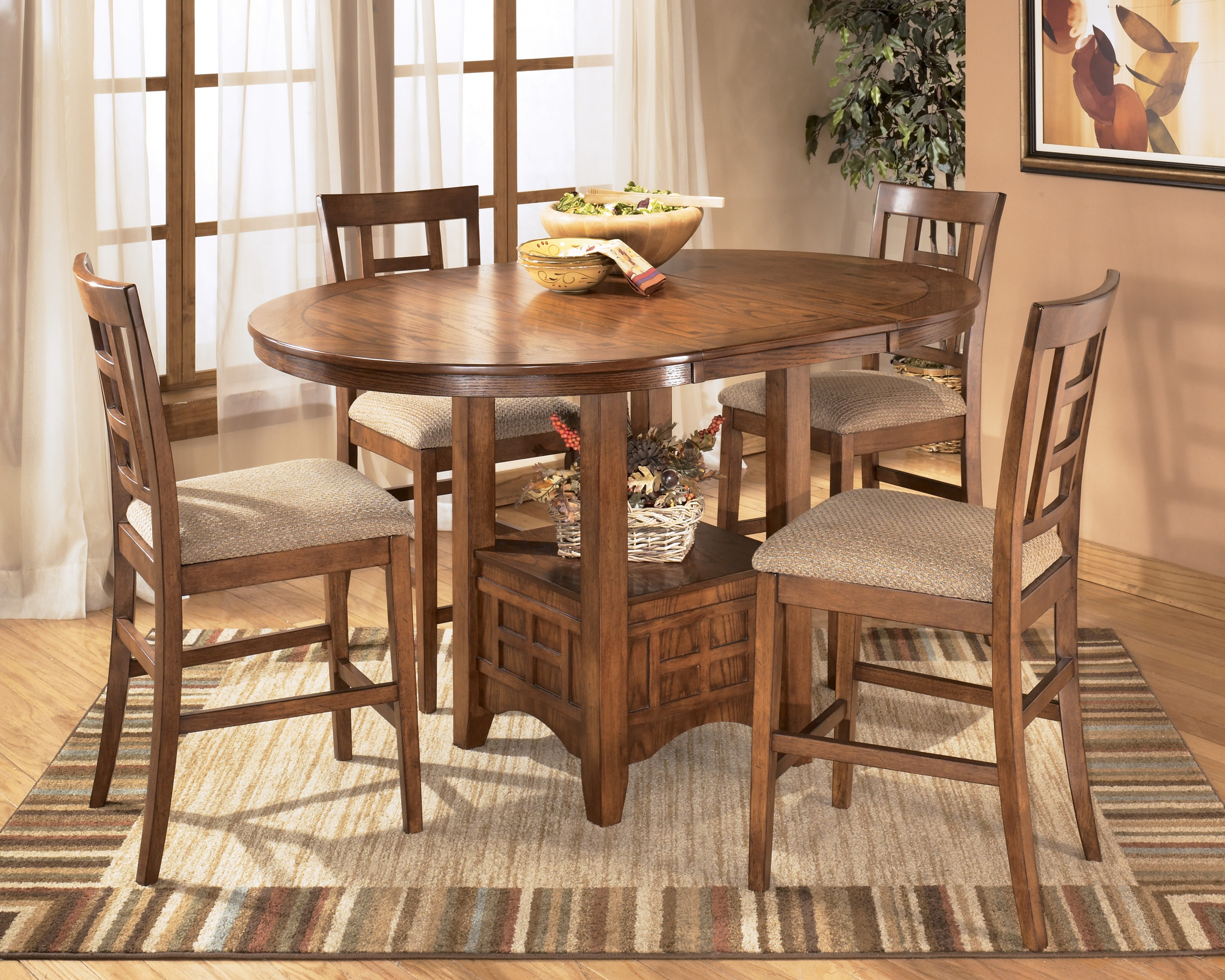 Cross Island Oval Counter Height Table By Ashley Furniture