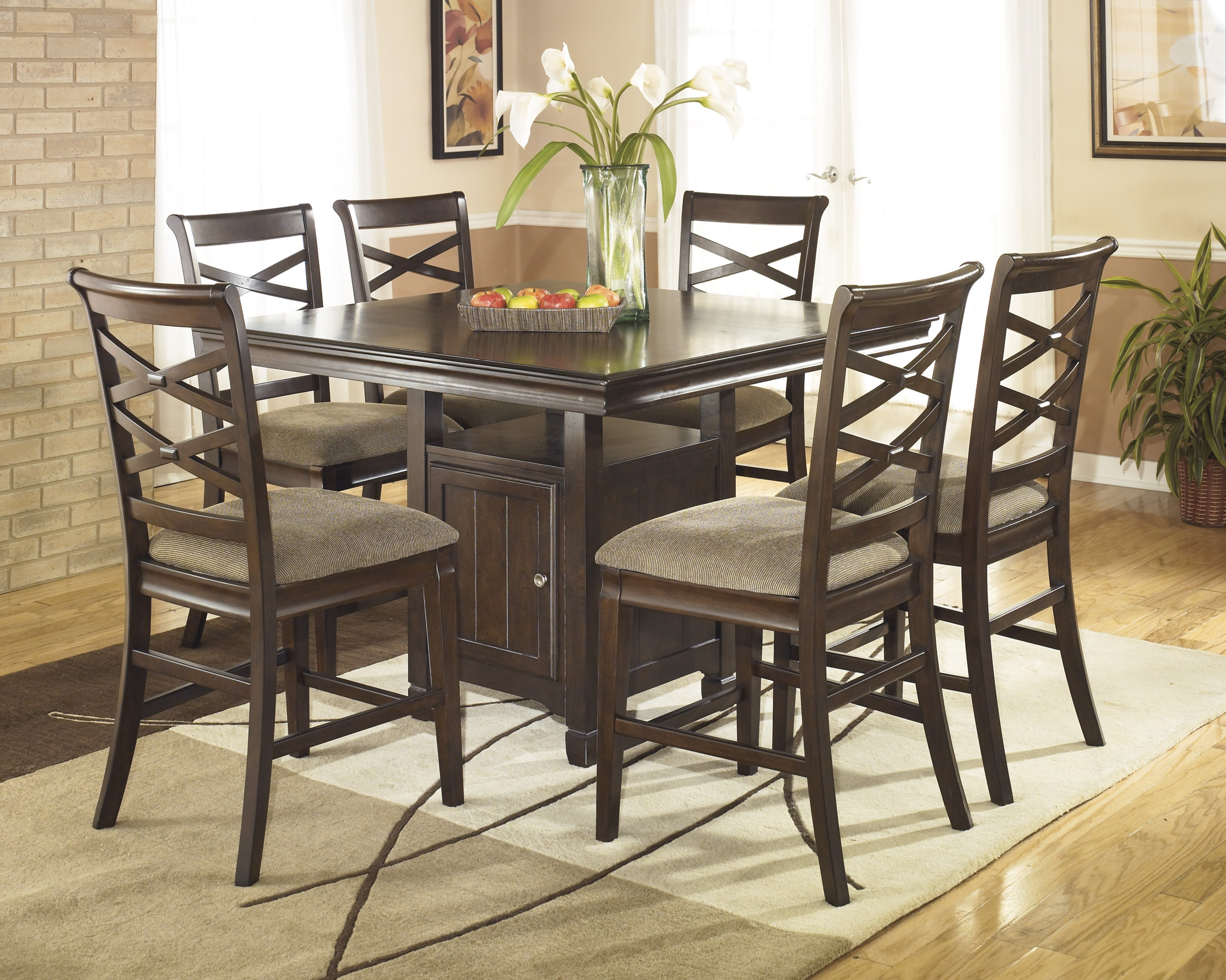 Hayley Square Counter Table By Ashley Furniture D480 32