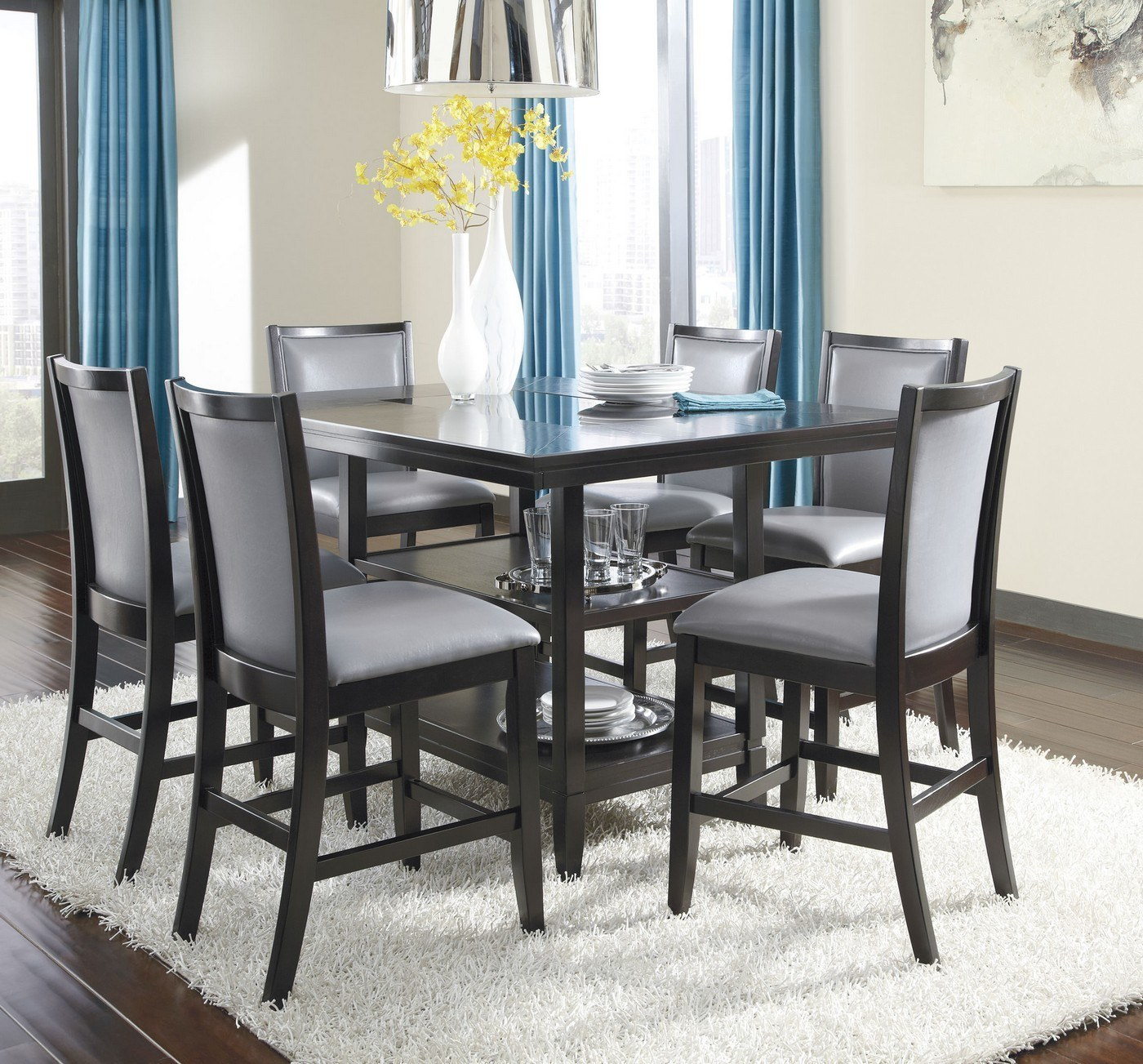Trishelle Rectangular Dining Room Counter Table By Ashley Furniture D550 32