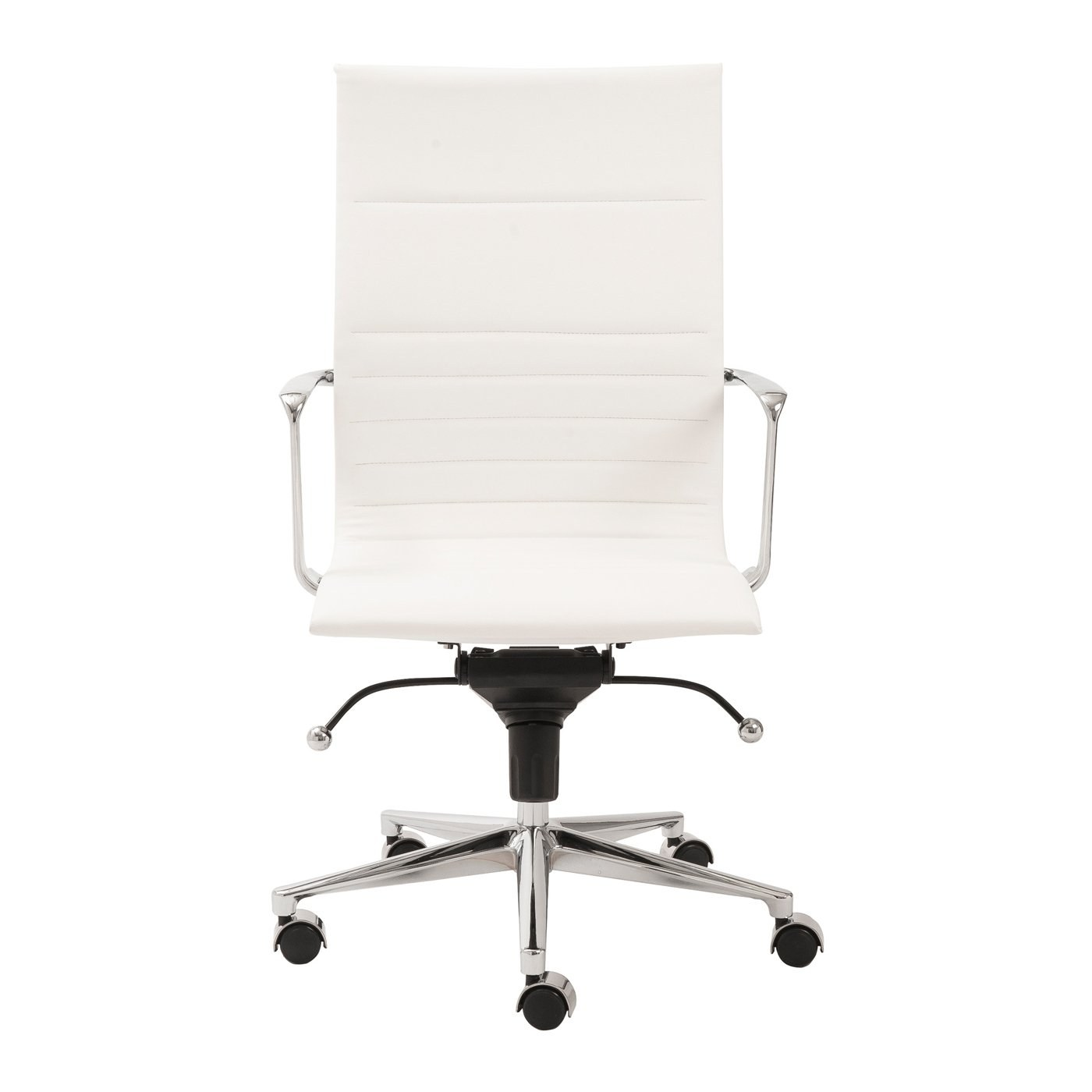 Magnificent Kyler High Back Office Chair With White Leatherette Upholstery By Euro Style Inzonedesignstudio Interior Chair Design Inzonedesignstudiocom