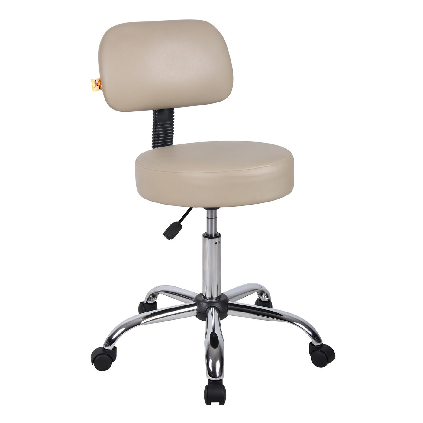 Medical Stool With Beige Caressoft Upholstery By Boss