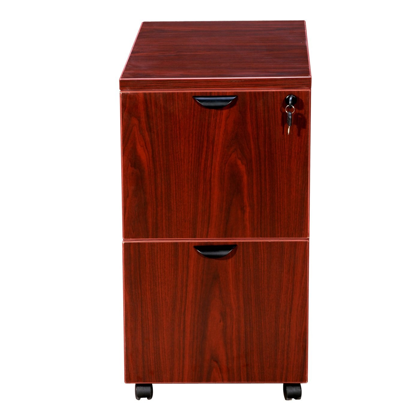 mobile cabinet mobile pedestal file cabinet with mahogany finish by 23434
