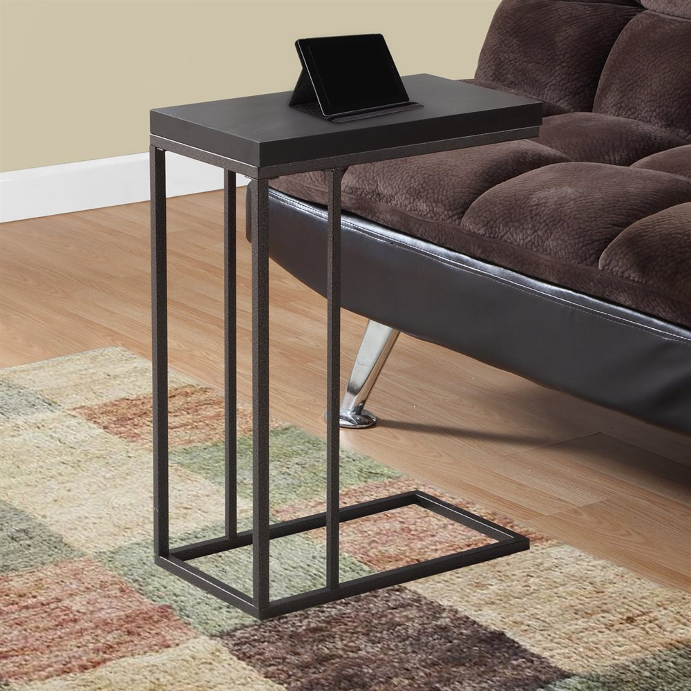 Rectangular Accent Table With Bronze Frame Finish And
