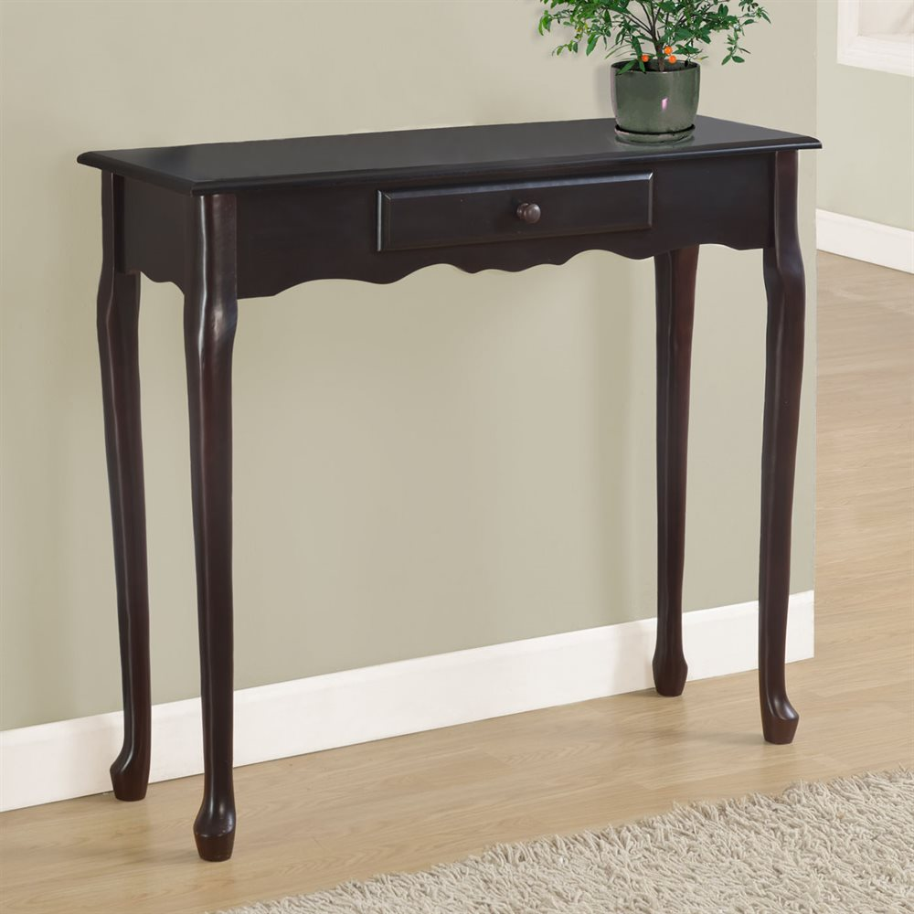 hall console table with dark cherry finish by monarch specialties. Black Bedroom Furniture Sets. Home Design Ideas