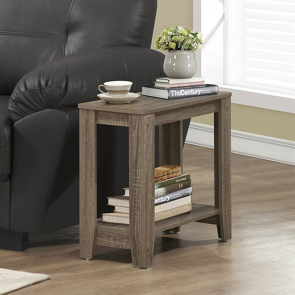 Accent Side Table With Dark Taupe Reclaimed Finish By