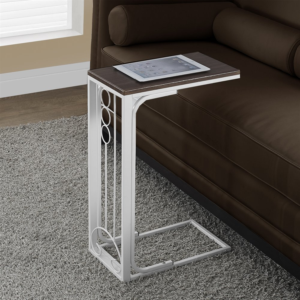 metal accent table with antique white cherry finish by monarch specialties. Black Bedroom Furniture Sets. Home Design Ideas
