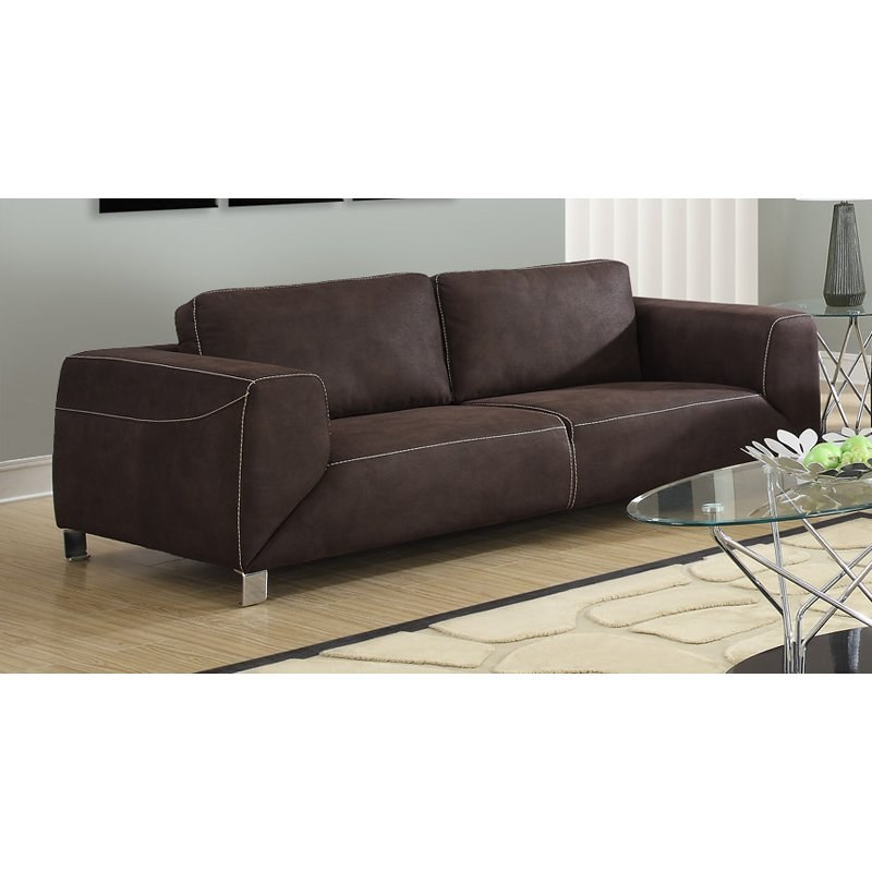 micro suede sofa with chocolate brown micro suede 11480 | i 8513br t 1501824361