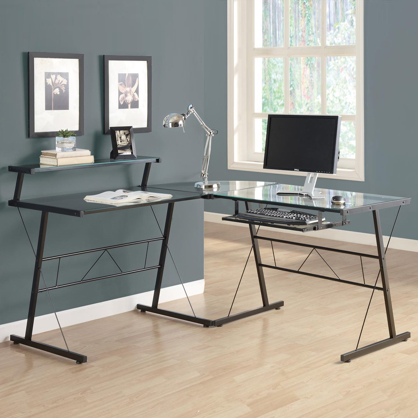Miraculous L Shaped Computer Desk By Monarch Specialties Home Interior And Landscaping Eliaenasavecom
