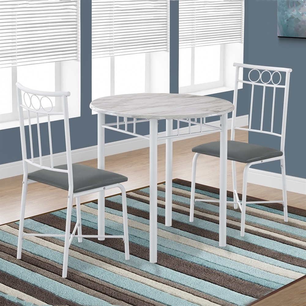 ... White Faux Marble Dining Set By Monarch Specialties. 1420 Of 18015.  Save 8%