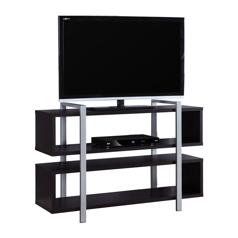 48 In Bookcase Tv Stand With Cappuccino Finish By Monarch