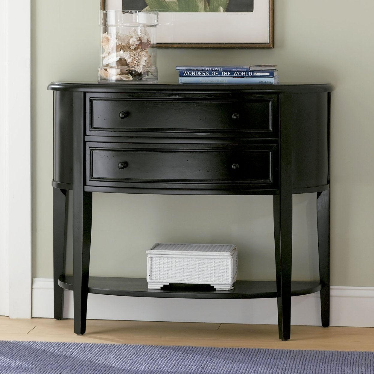 Black Demilune Console Table By Powell Furniture