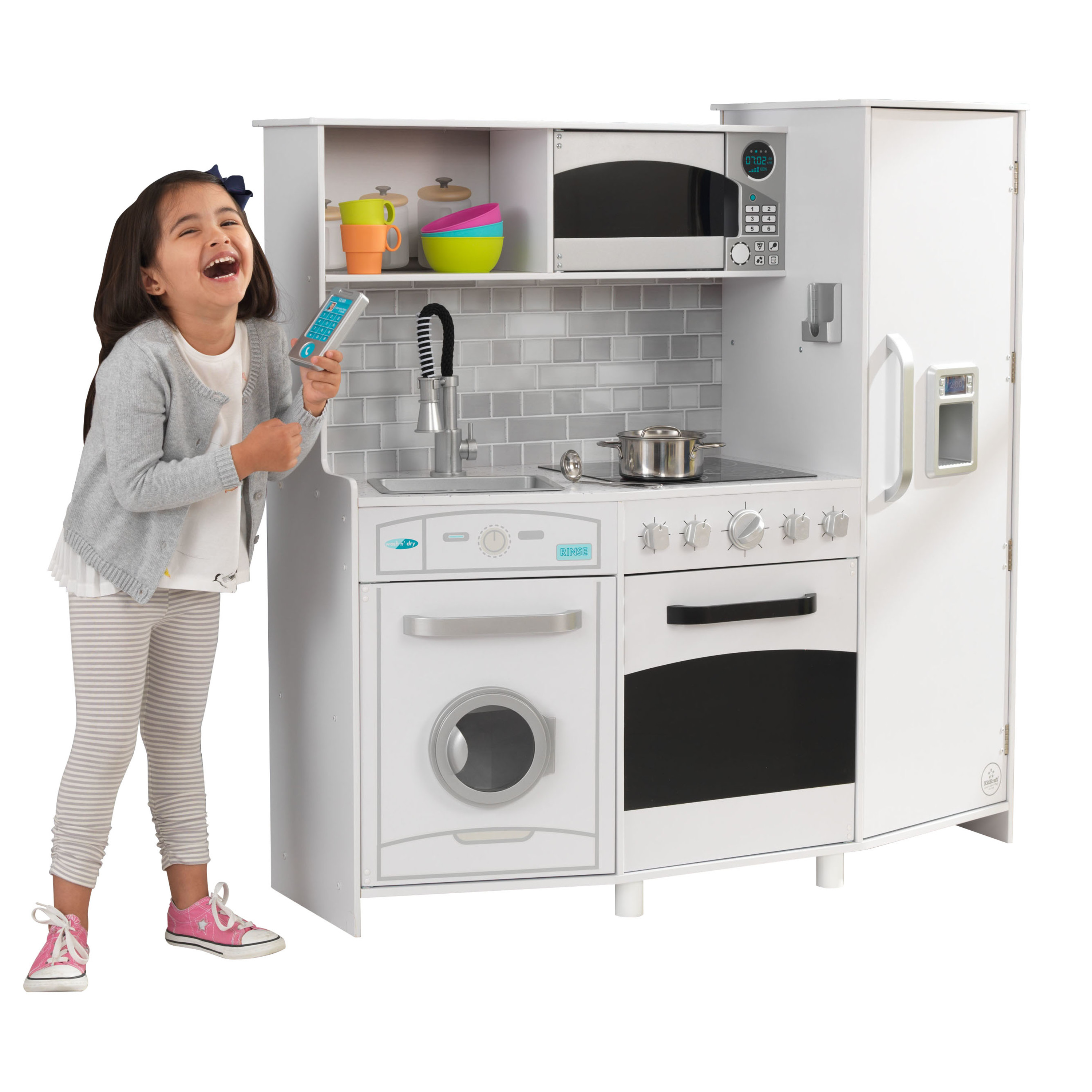 Large Play Kitchen with Lights & Sounds in White by KidKraft