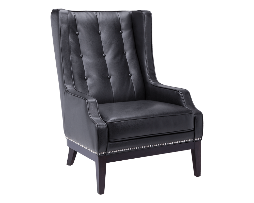 Biblioteca Armchair In Black by Sunpan Modern : 40262 from www.madisonseating.com size 1000 x 800 png 210kB