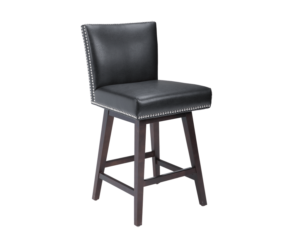 Vintage Swivel Counter Stool In Black By Sunpan Modern