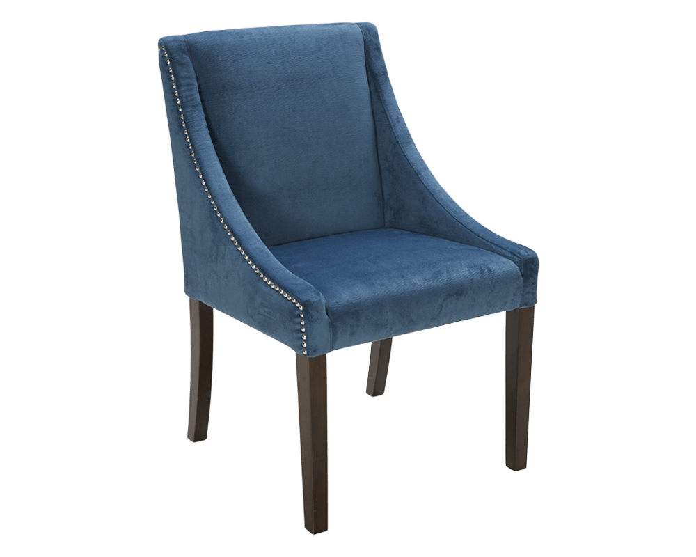 blue dining chairs lucille dining chair in blue by sunpan modern 30126