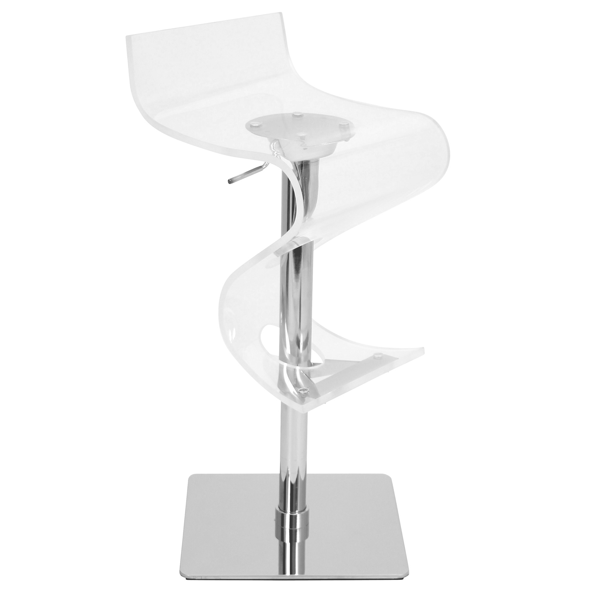 Viva Bar Stool In Clear By Lumisource