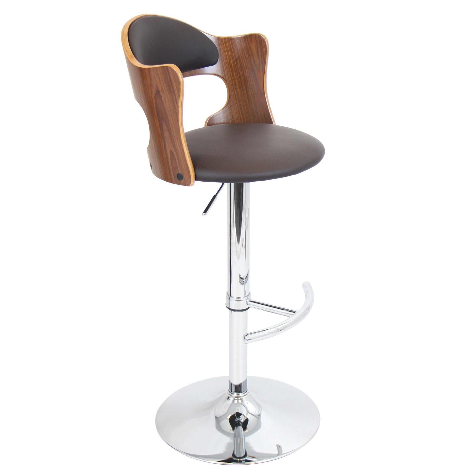 Cello Bar Stool in Walnut by LumiSource