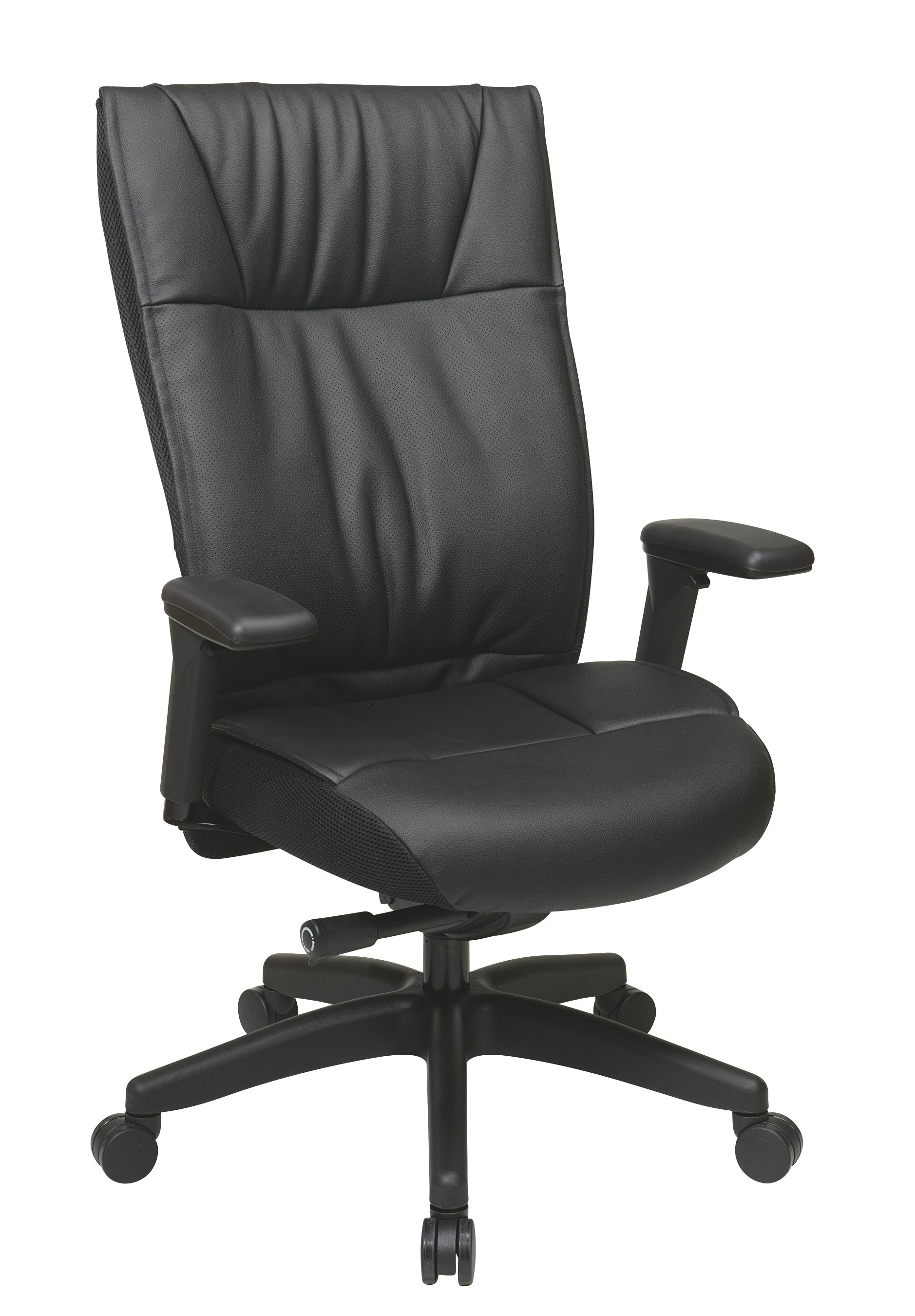 contemporary leather executive chair by space seating office star. Black Bedroom Furniture Sets. Home Design Ideas