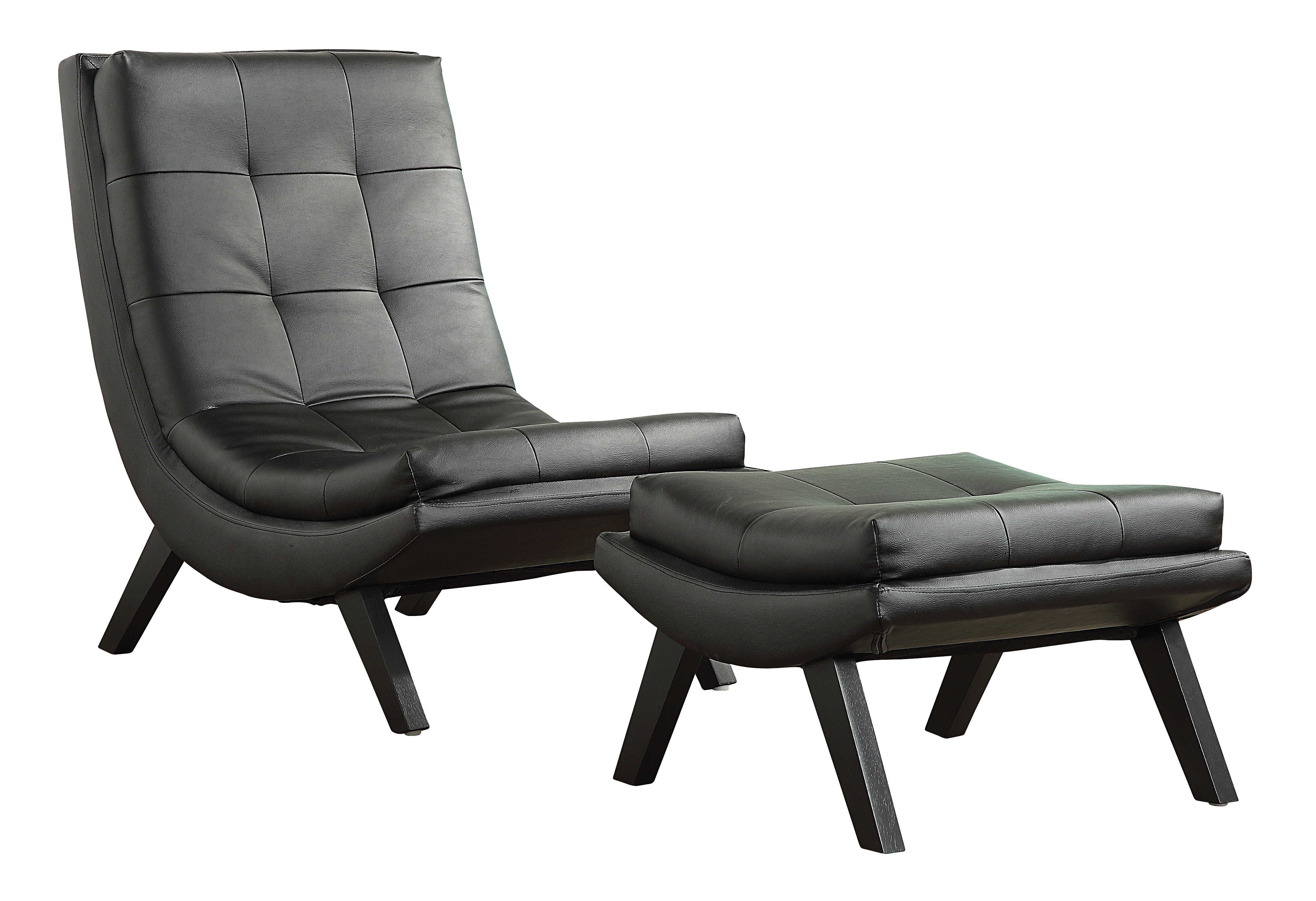 Tustin lounge chair and ottoman set by ave six office star for Avenue six curves tufted chaise lounge