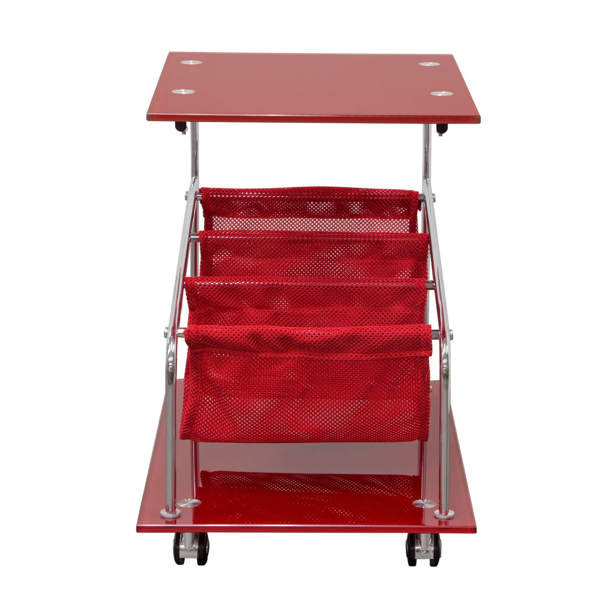 Rocket Castered Accent Storage Table with Red Glass Top  : ROCKETETRE from www.madisonseating.com size 2000 x 2000 jpeg 318kB