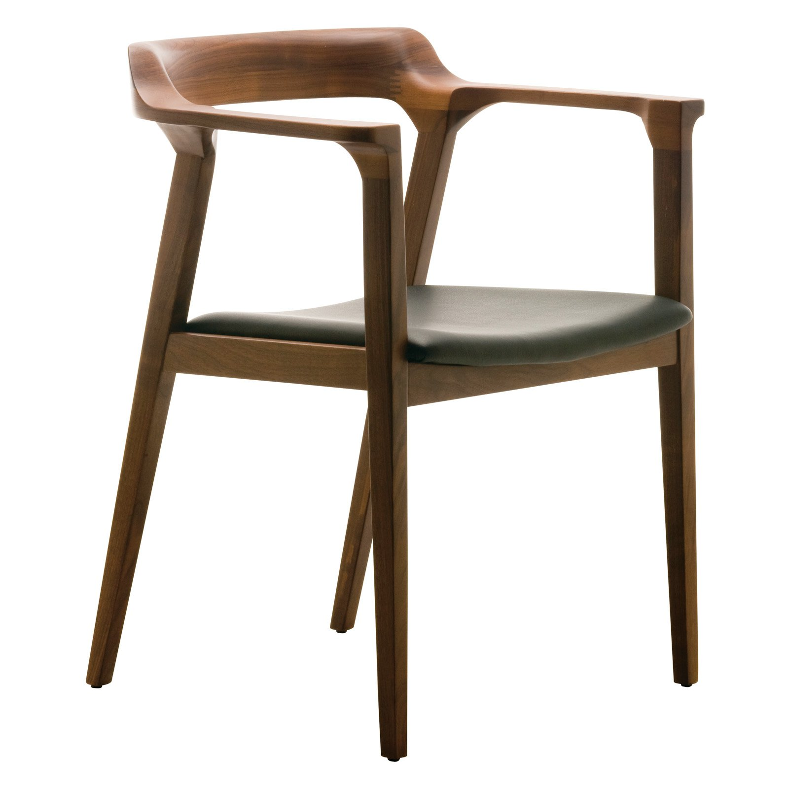 Caitlan Dining Chair with Tan Walnut Finish by Nuevo Living