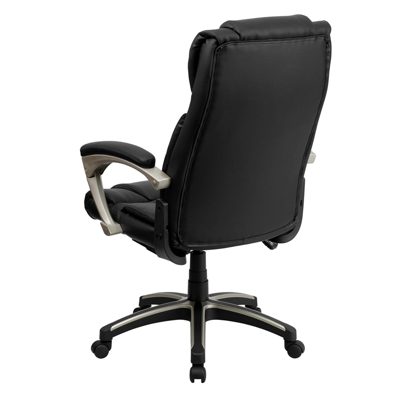 Pleasing High Back Folding Black Leather Executive Swivel Chair With Arms By Flash Furniture Machost Co Dining Chair Design Ideas Machostcouk