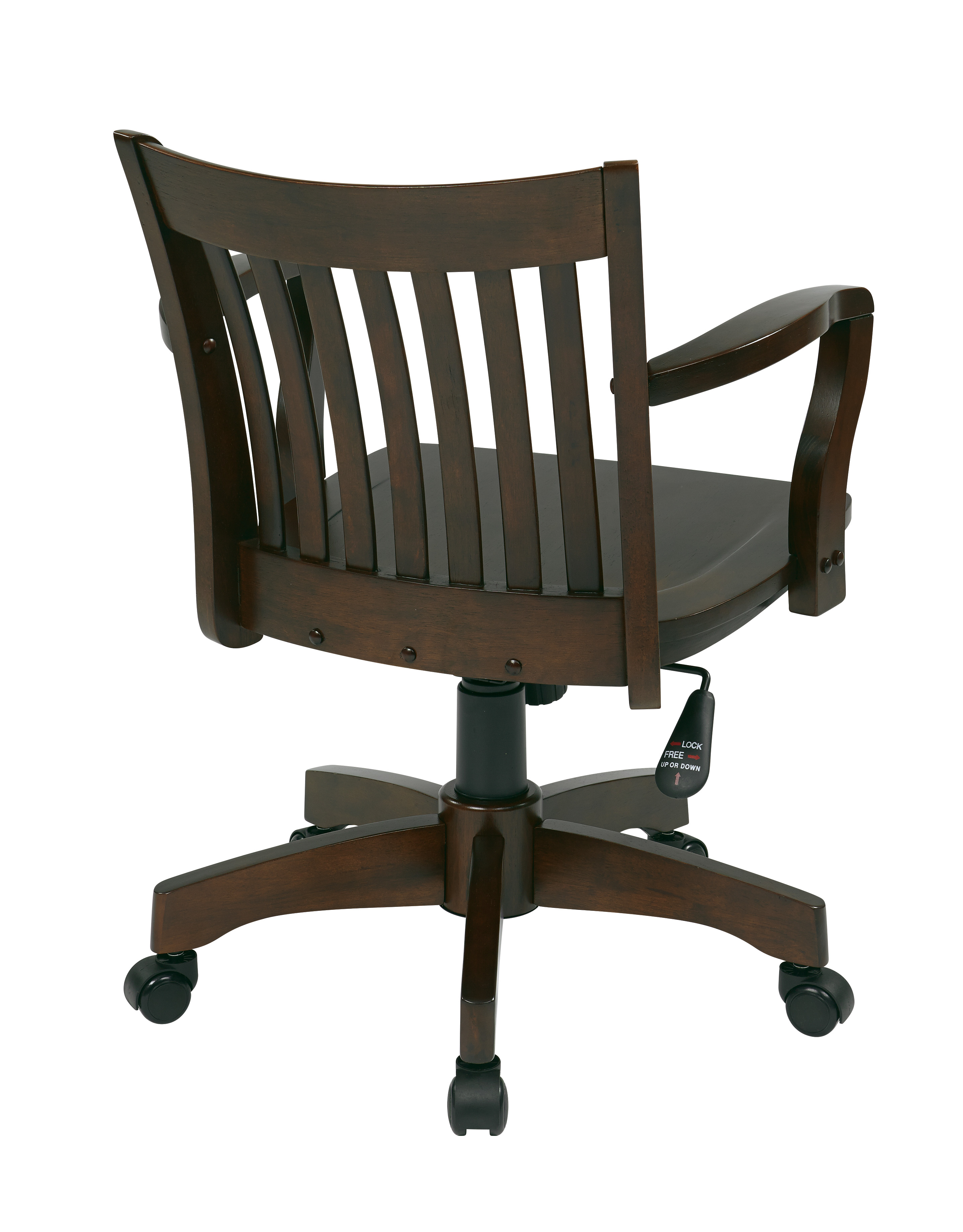 Deluxe Wood Banker S Chair By Osp Designs Office Star
