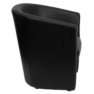 Black Leather Barrel-Shaped Guest Chair by Flash Furniture