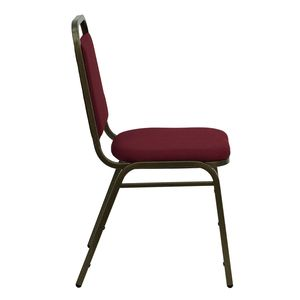 Burgundy Fabric HERCULES™ Banquet Chair - Gold Vein Frame Finish by Flash Furniture